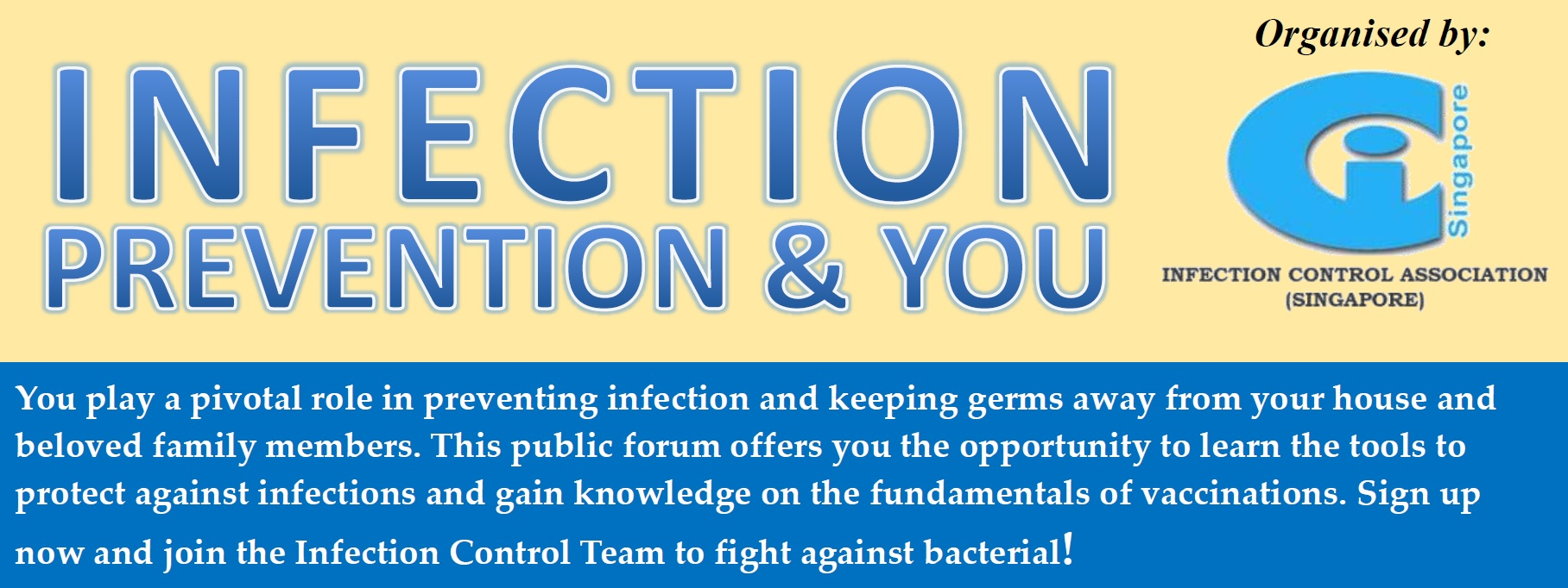 Public Forum – Infection Prevention and You